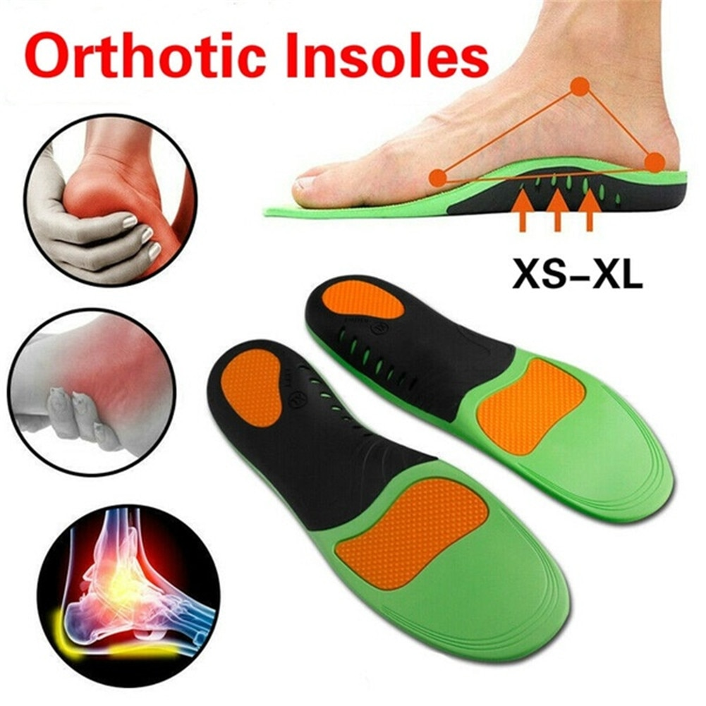 silicone gel insoles orthopedic massaging shoe inserts sports shock absorption shoe pad comfortable for men women shoes insole Shoe Insoles Inserts Flat Feet High Arch Support For Plantar Fasciitis Sports Shock-absorbing Insole