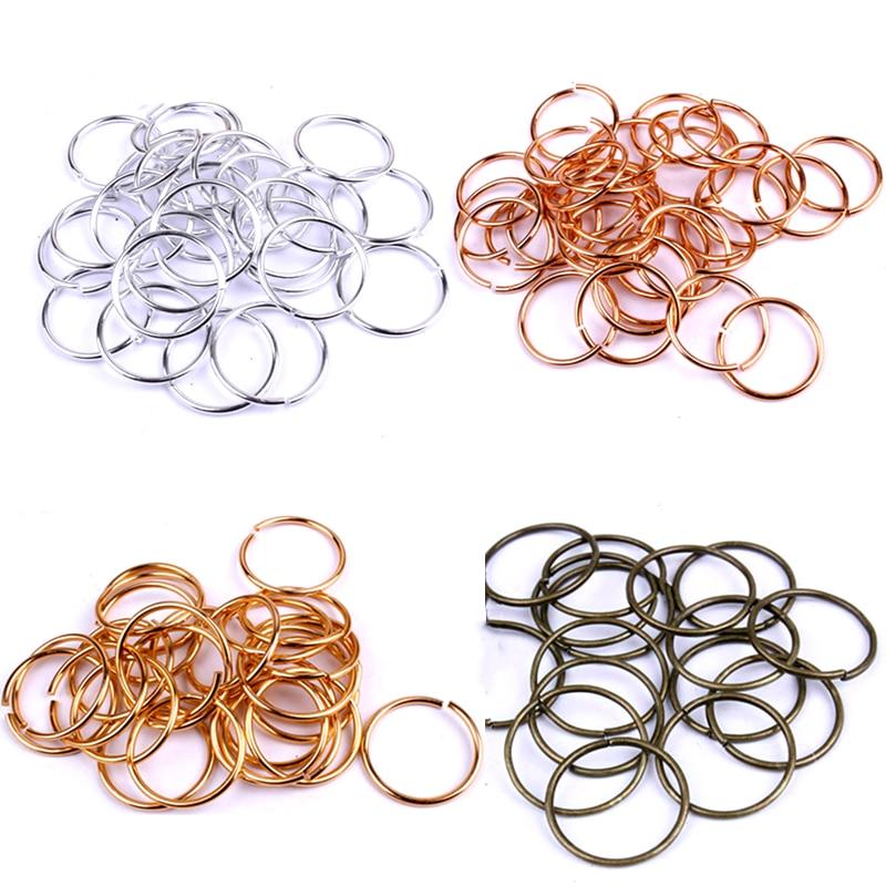 50 Pcs/Lot 10mm 18mm Brass/Gun-metal/Gold/Silver/Rhodium Opening Hair Ring Braid Dreadlock Bead Cuff