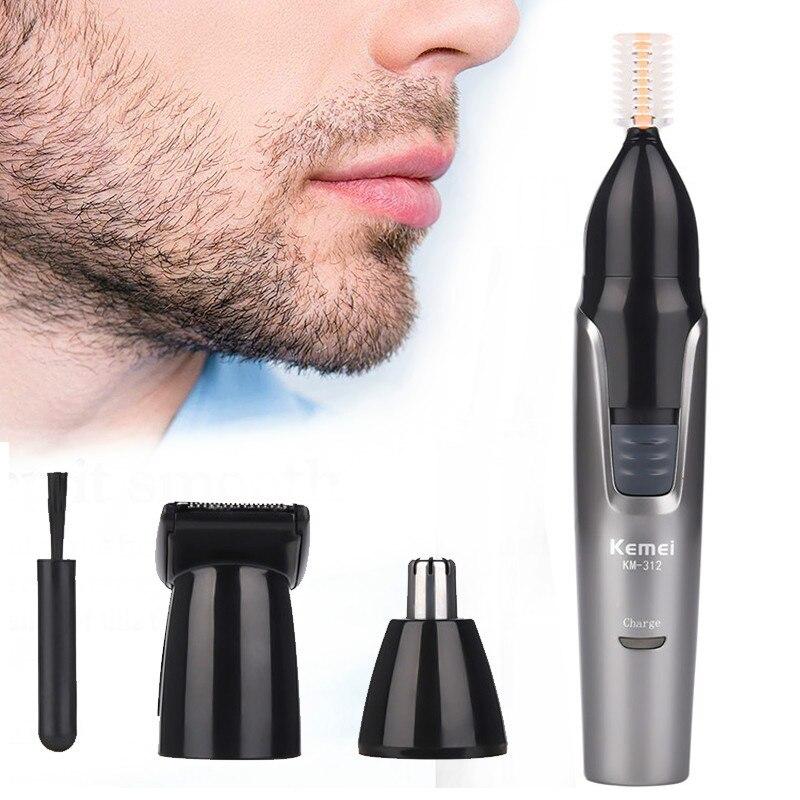3 in 1 Multifunktionale rechargable Elektrische Ohr Nase Trimmer Für Männer Rasierer Bart Gesicht Augenbrauen Nase Haar Trimmer Pflege Kit