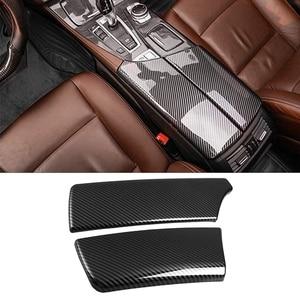 for BMW 5 Series F10 F18 2011-2017 Carbon Fiber ABS Car Armrest Box Decoration Cover Trim Interior Stickers