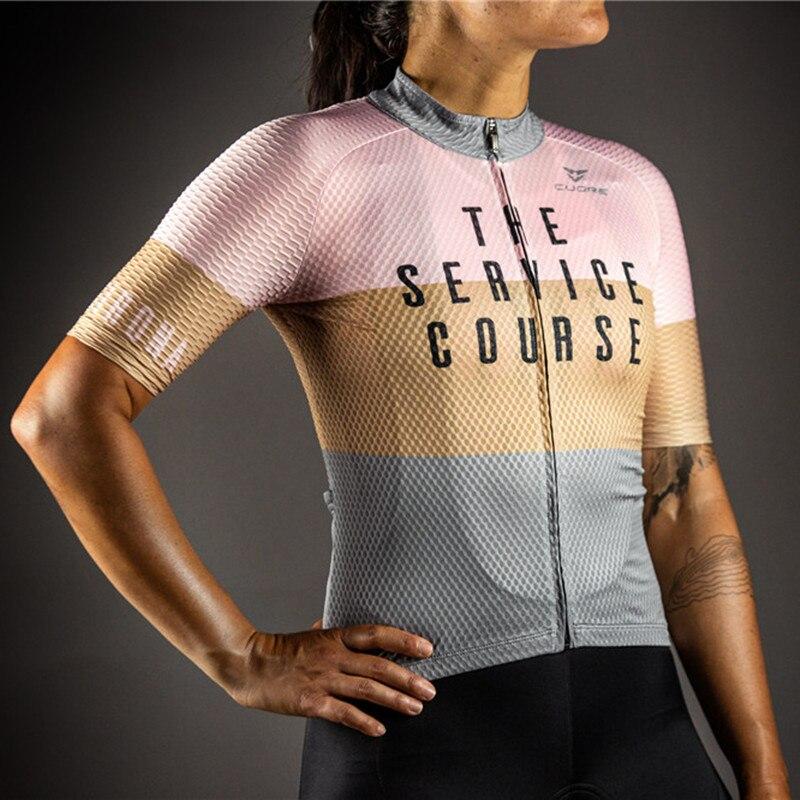 Camiseta de manga corta de ciclismo para mujer, ropa para ciclismo al...
