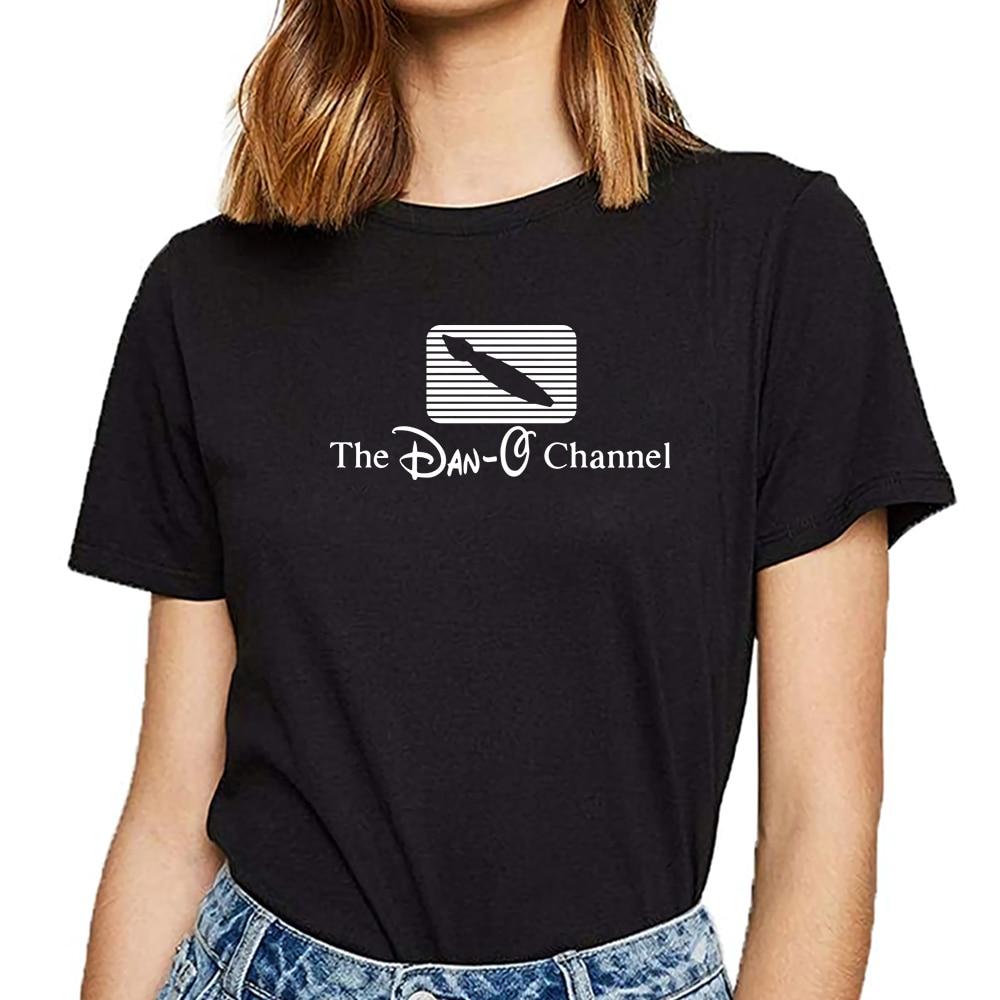 Tops camiseta mujer dan o canal alt sombrero Hip Hop Vintage camiseta femenina personalizada