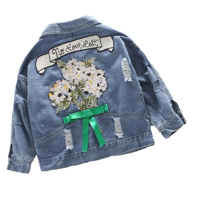 2020 New Jean Denim Jackets For Girls Coats For Baby Children Widbreaker For Girls Coats Chidren Outerwear 3 6 8 10 12 Years