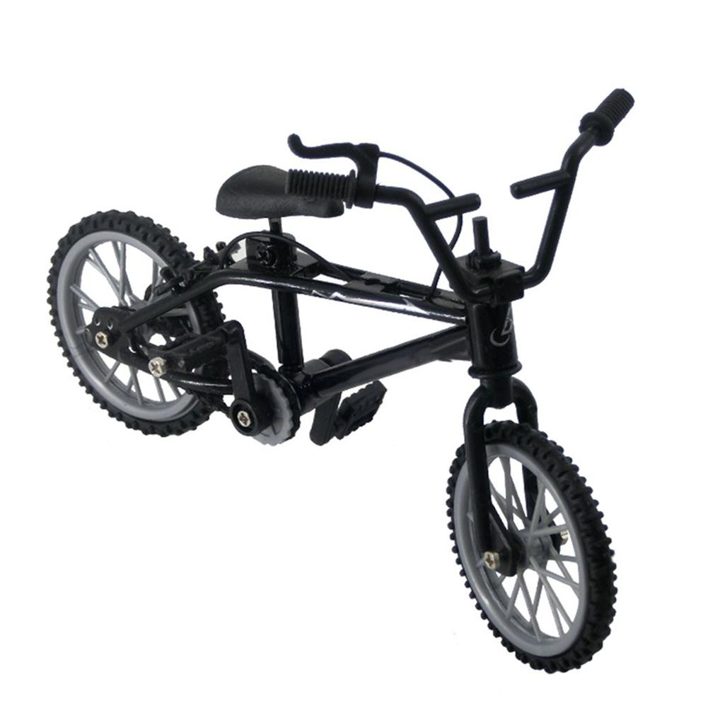 Mini BMX bicicleta de montaña modelo niños juguete para regalo ornamento 1/12 casa de muñecas novedad mordaza juguetes para niños regalos mano montaña de Juguetes