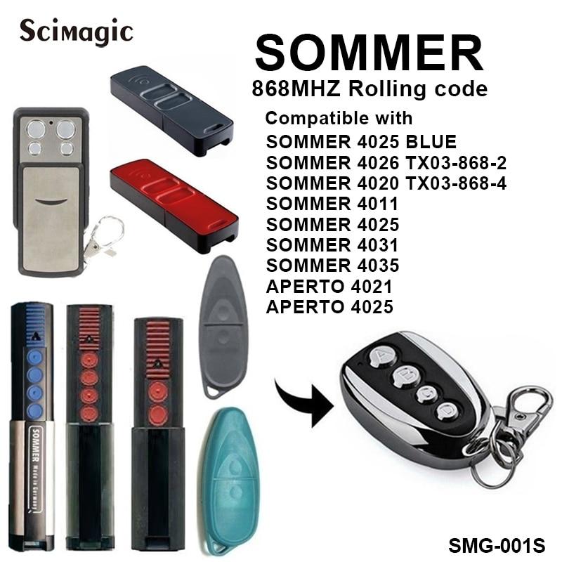 SOMMER 4020 4026 TX03-868-4 remotre 868mhz sommer 4025 de 4026, 4020 control remoto Henderson