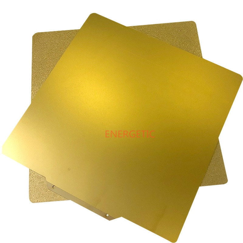 ENERGETIC-قاعدة للطابعة ثلاثية الأبعاد ، سرير مطبوع PEI مزدوج الوجه ، 120 × 120 مللي متر ، أملس ، للطابعة ثلاثية الأبعاد