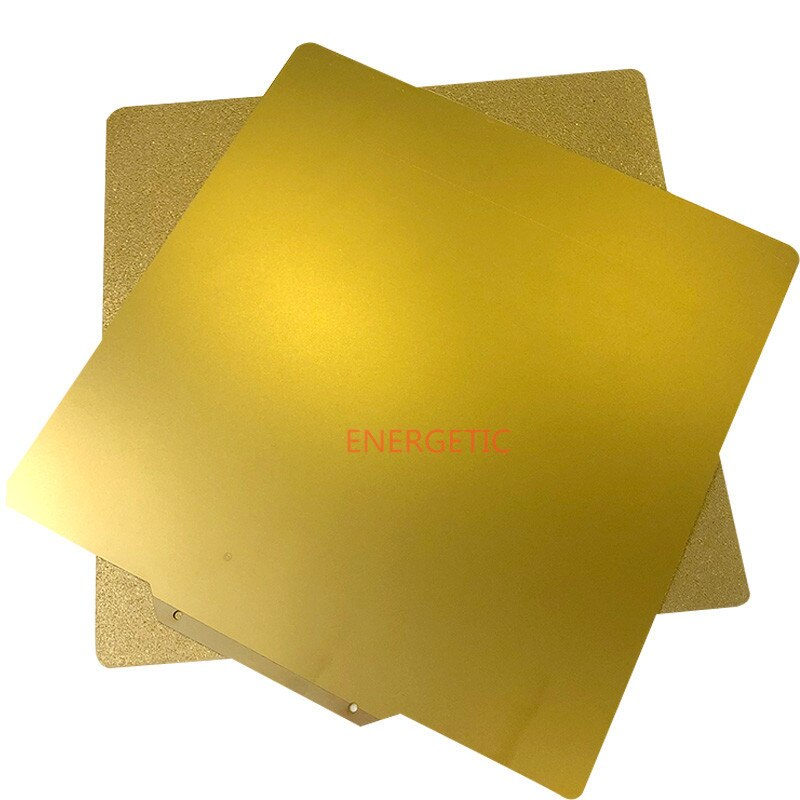Energía 330x330mm doble cara textura/suave PEI Flex acero hoja de cama de calor Buildplate + Base para Tronxy X5S 3D impresora