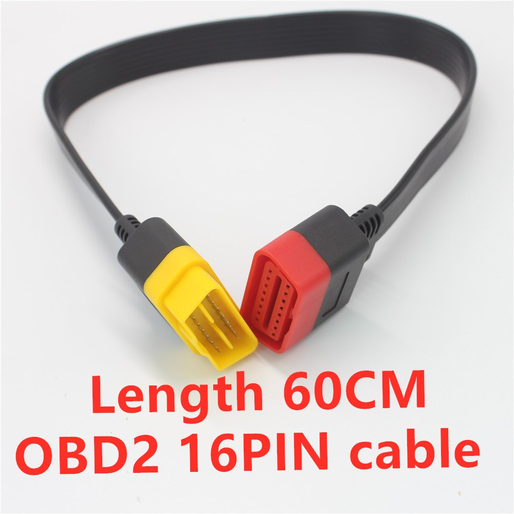 Acheheng Car OBD2 Extension Cable 16PIN male to 16PIN female OBDII cable use for all Car diagnostic tool OBD2 Connection port