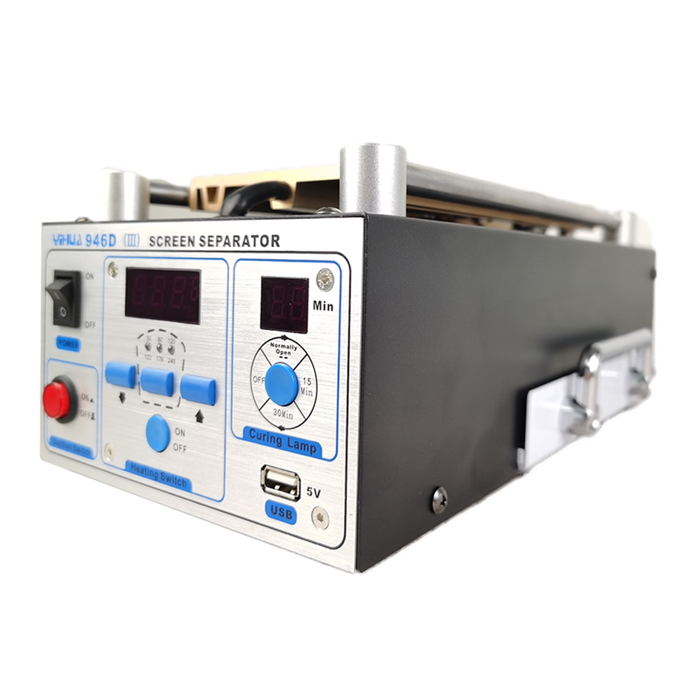 LCD Separator Phone Glass Split Screen Repair Separator YIHUA 946D-III LCD Screen Remover With Heating Plate Curing Lights