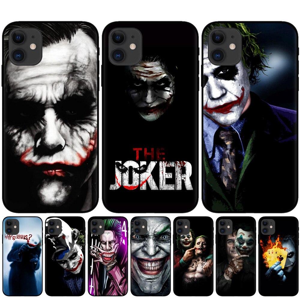 2019 film Joker Joaquin Phoenix soft Black silicone cover phone case for iPhone 11 Pro XS Max XR X 8 8Plus 7 7Plus 6 6S Plus 5S