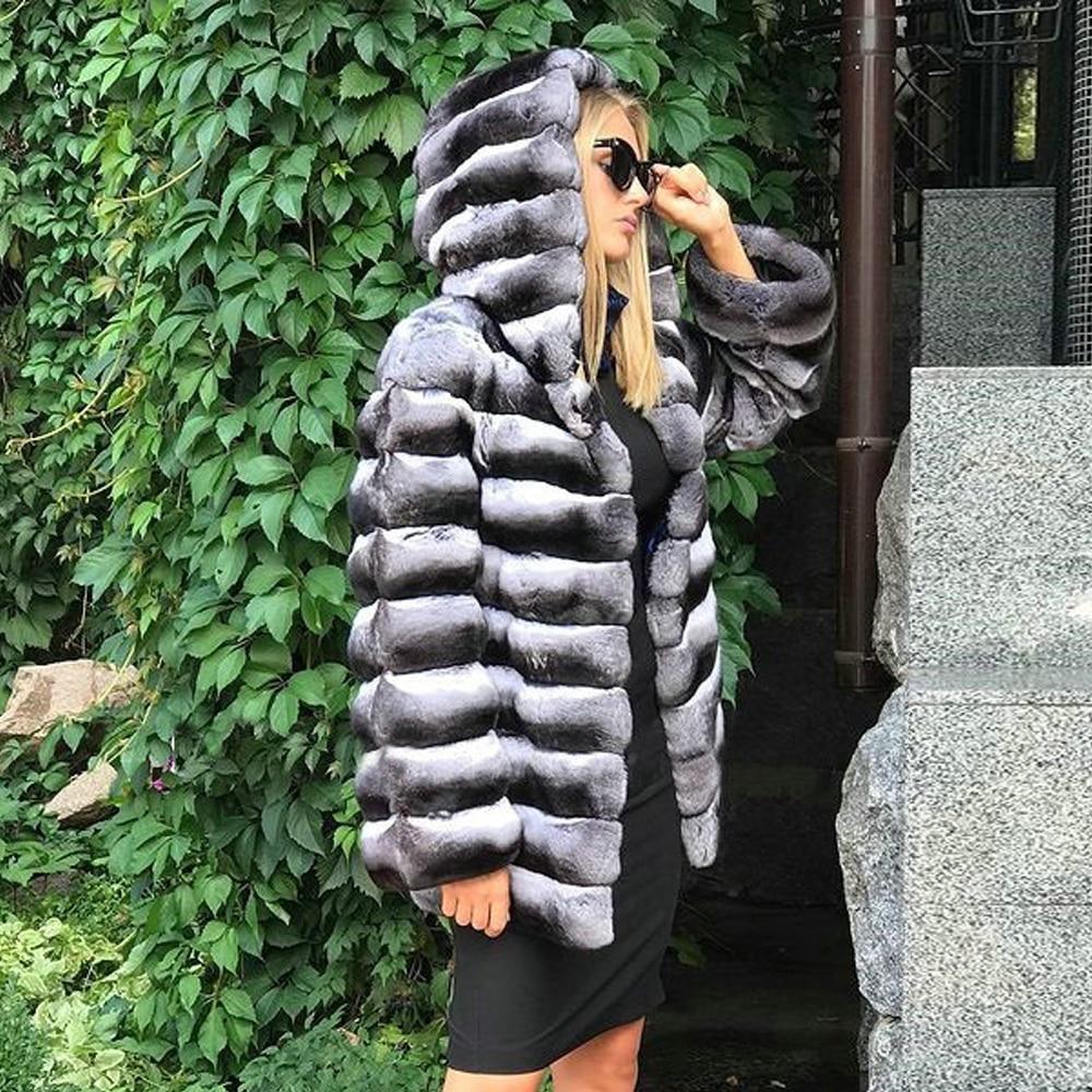 Женское зимнее пальто средней длины, с капюшоном