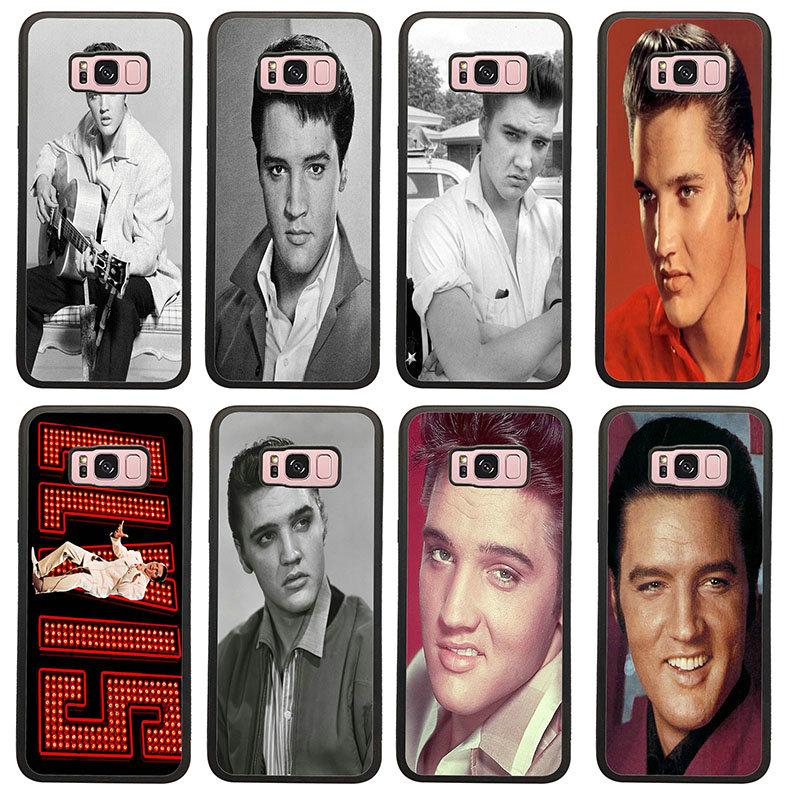 Elvis Presley Beijo Para Samsung Galaxy A5 A7 A8 J3 J4 J6 J7 J8 2017 2018 S6 S7 S8 S9 S10 Mais Dura do PC TPU Casos de Telefone Celular