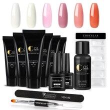 COSCELIA Professional Poly Nail Gel Kit Of Nail Kit Set Art Design Decorations Extension Kit For Gel