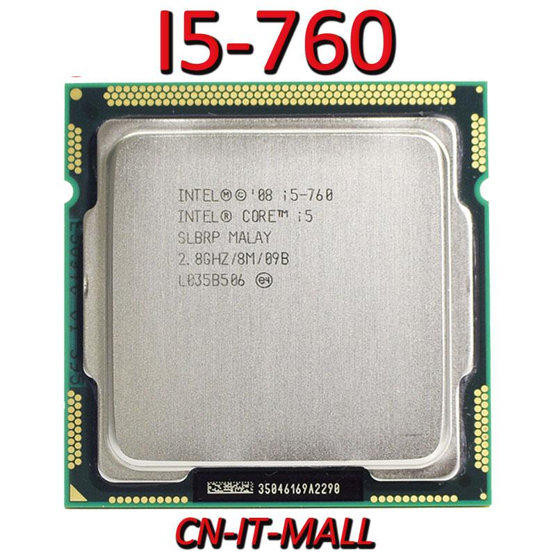 Intel Core I5-760 CPU 2,8G 8M 4 Core 4 hilo LGA1156 procesador
