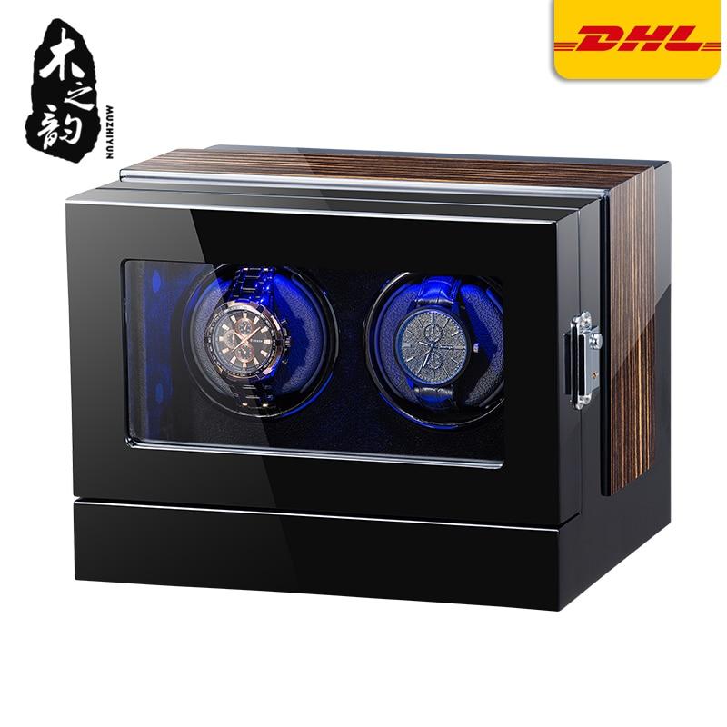 Automático bobinadora para reloj de madera accesorios para Cajas de pantalla mecánica individual giratorio reloj uhrenbeweger para reloj de los hombres
