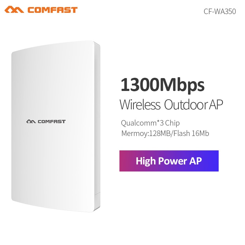 Repetidor Wifi inalámbrico de alta potencia de 1300Mbps para exteriores Router/AP/Repetidor CPE 5G banda Dual LAN WAN RJ45 Puerto 48V alimentador POE