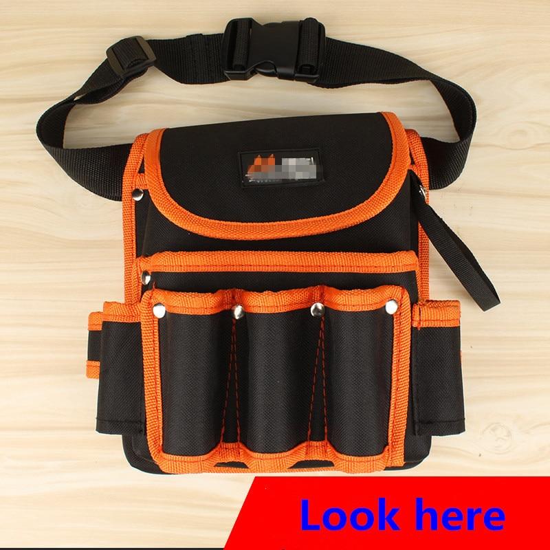 Bolsa para herramientas, Kit de herramientas, portaherramientas de alta calidad de nailon, bolsa para herramientas de bolsillo para cintura de electricista
