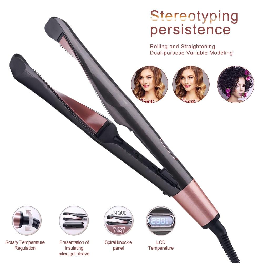 cabelo curling ferro alisamento maquina alisador de cabelo curler styler curling