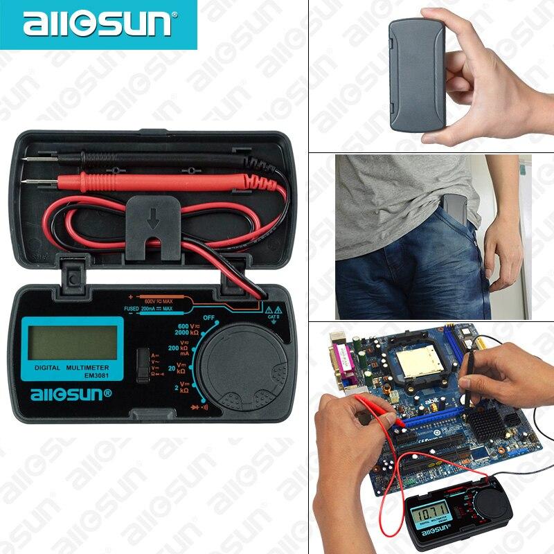 all sun all-sun EM3081 EM3082, 3 1/2 1999 амперметр переменного/постоянного тока, вольтметр, Ом, портативный измеритель напряжения