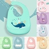 Waterproof Baby Bibs Adjustable Silicone Toddler Infant Burp Cloths Kids Feeding Aprons Children Eating Lunch Breastplate Stuff