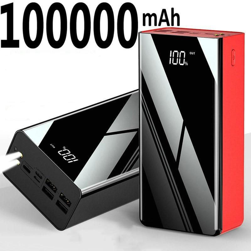 Power Bank 100000mAh Portable Fast Charging Poverbank Mobile Phone External Battery Charger Powerban