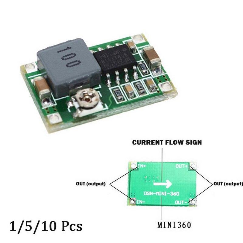 1/ 5/10 шт Мини постоянного тока Dc понижающий преобразователь вольт регулятор 5v-23v до 3,3 v 6v 9v 12v 340 кГц шаг вниз Мощность преобразователя постоян...