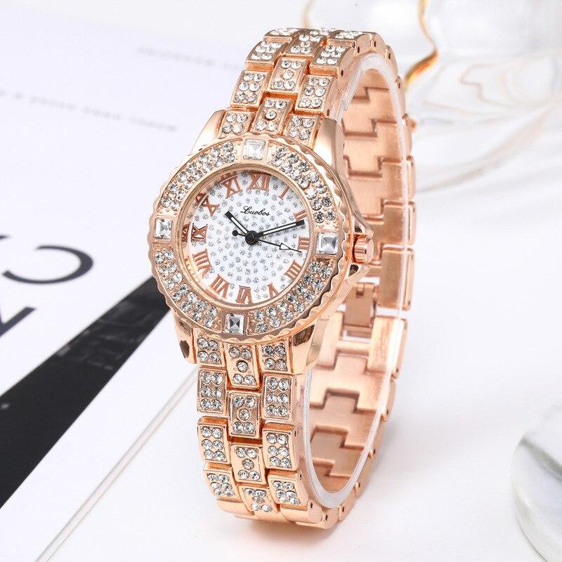 2020 Women watches exquisite stainless steel watch women rhinestones luxury casual quartz watch Relojes Mujer 2020 new releases