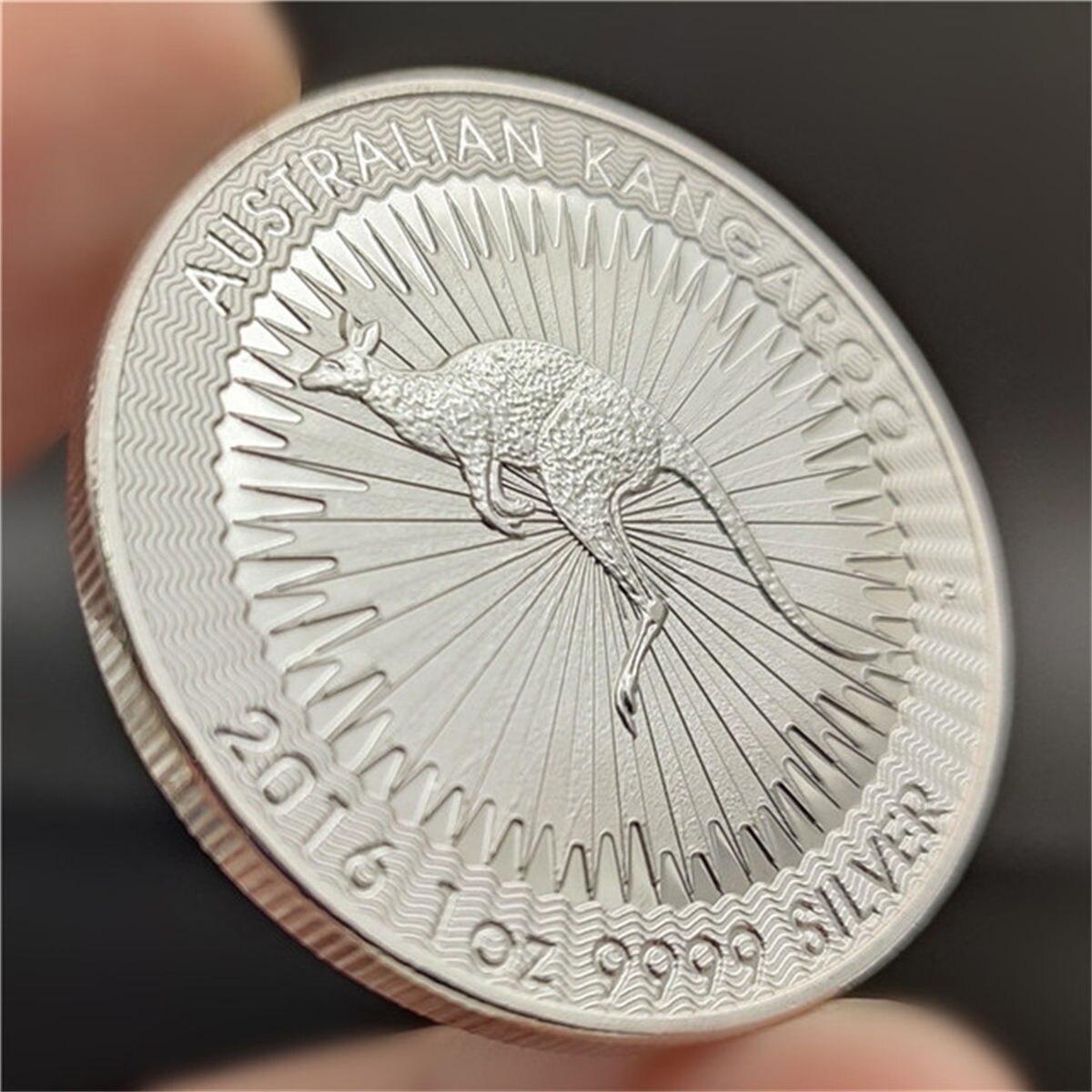 Монета в виде животного, кенгуру на удачу, подарок, памятная монета, памятная монета, серебряная монета, поделки, коллекционные предметы