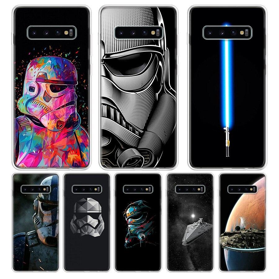 Star Wars Caso de Telefone Preto Para Samsung S6 S7 S8 S9 S10 S10E S11 S11E J42018 J62018 J82018 Nota 8 9 10 Tampa Da Caixa de Telefone
