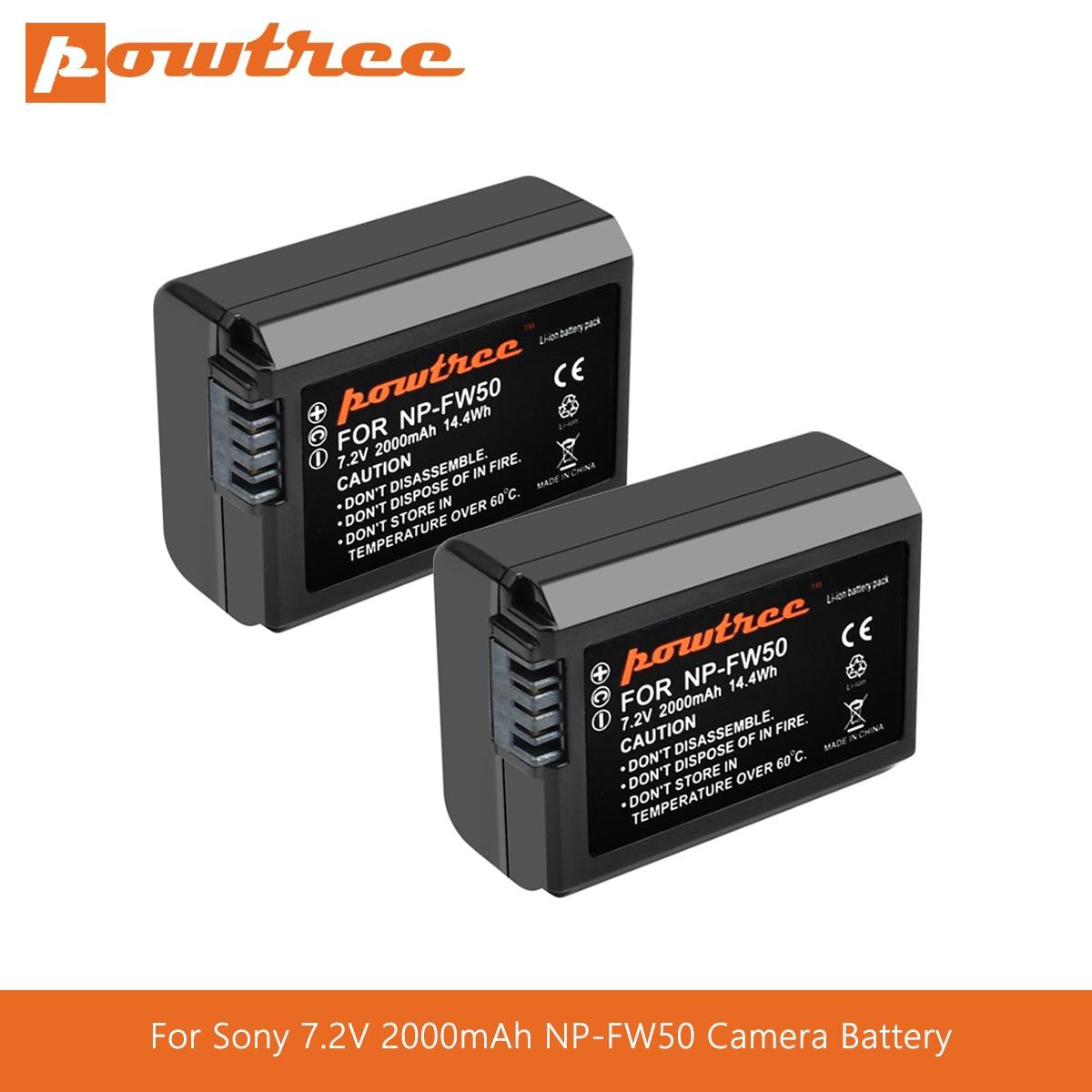 Powtree para Sony 7,2 V 2000mAh NP-FW50 NPFW50 NP FW50 de batería...