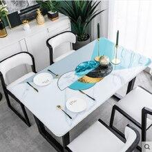 Manteles de mesa de centro de plástico de colores pvc cristal plato nórdico impermeable a prueba de aceite desechable lavar planchado mantel