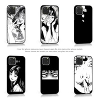 japanese horror tomie phone case for iphone samsung xiaomi note a 6 7 8 9 11 12 20 pro x xs max xr plus