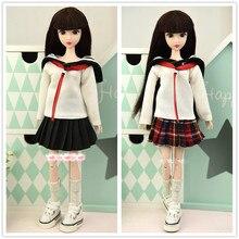 학교 복장 유니폼/가을 의류 세트 셔츠 + 스커트 1/6 bjd xinyi barbie blythe fr st doll xmas