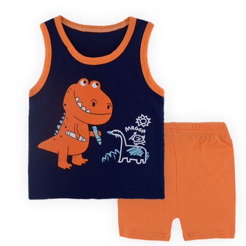 Фото - Летняя одежда для маленьких мальчиков, хлопковые топы для младенцев, футболка + штаны, комплекты детской одежды, комплекты детской одежды комплекты детской одежды pelican комплект для мальчиков джемпер брюки bfajp1203