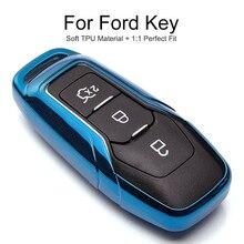 ТПУ защитный чехол для автомобильного ключа для Ford Mondeo Mk4 MK3 MK5 Ranger S C Max Explorer 5 Fiesta ST F15 брелок кольцо аксессуары