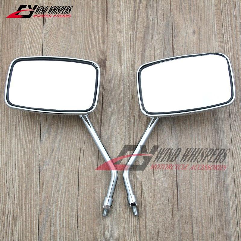 Espejos retrovisores laterales 2X10mm para Suzuki VL125 VL250 skywave AN250 AN400 Burgman para Honda CA250 Steed Magna 250 400 750