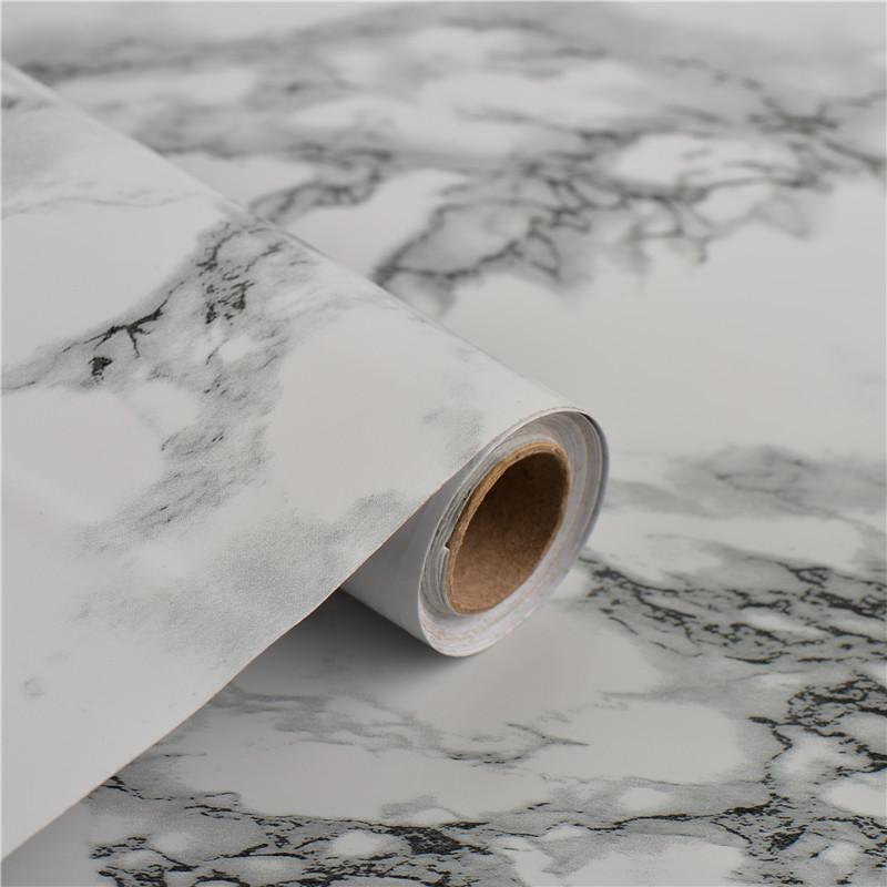 10 м/лот ширина 60 см ПВХ водонепроницаемая Наклейка на стену мраморная самоклеющаяся настенная бумага для ванной комнаты шкаф столешница ко...
