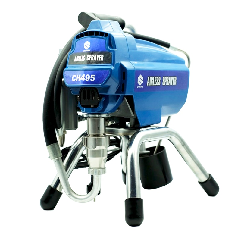 Charhs Electric Airless Paint Sprayer 495 painting machine tool 3045 psi pressure Suit for Indoor spraying, fence spraying electrostatic spraying machine powder spraying machine valve powder spraying machine electrostatic spraying spraying equipment