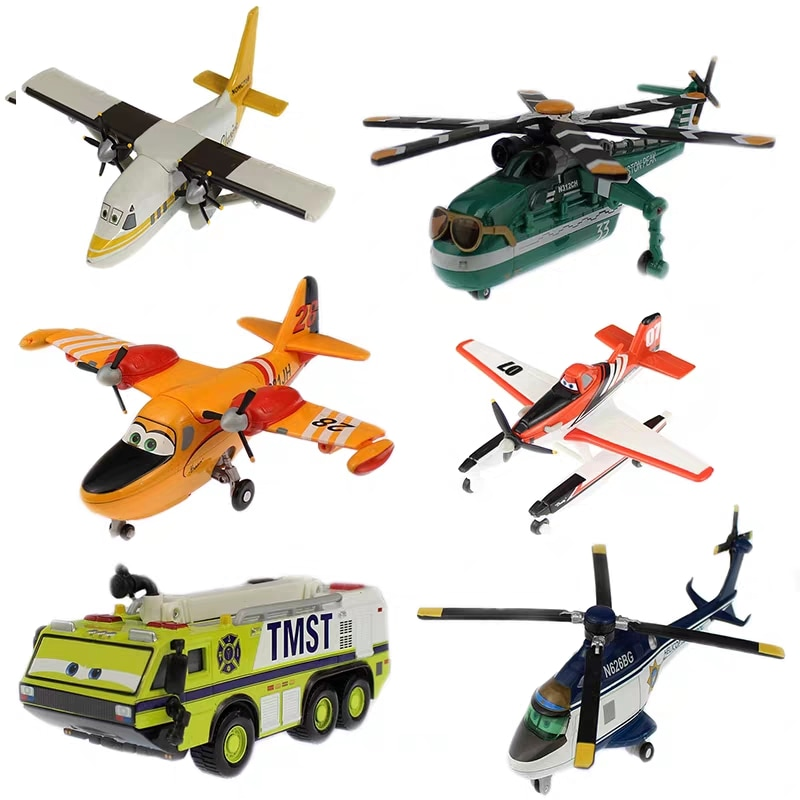 Disney Pixar planes Character Dusty Ripslinger Metal Die Casting Aircraft Helicopter Alloy Model Children's Toy Boy Gift pixar planes 1 55 10 12cm no 72 skipper dusty crophopper the king ishani shipboard aircraft echo metal diecast toy plane loose