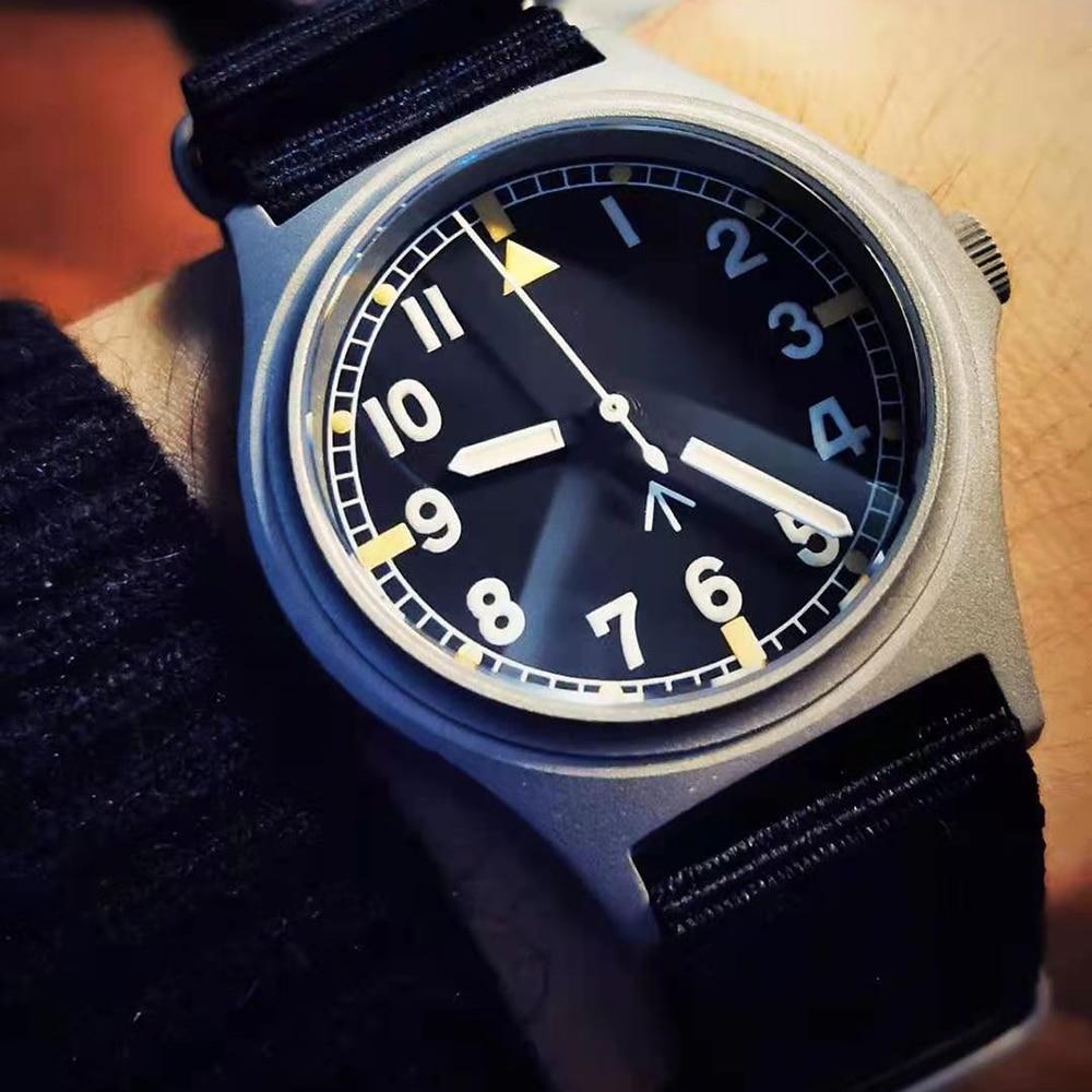 Retro G10 Pilot Automatic Watch Men 100M Diver NH35 Mechanical Wristwatch 39mm Stainless Steel Milit