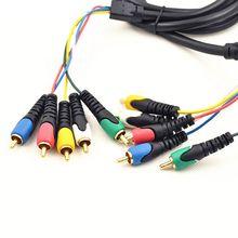Позолоченный 5RCA мужской/5RCA мужской аудио и видео кабель 1,8 м