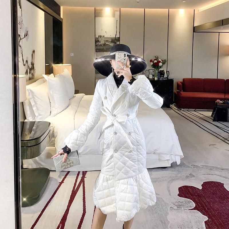 جاكيت قطن طويل للمشاهير فستان شتوي جديد 2021