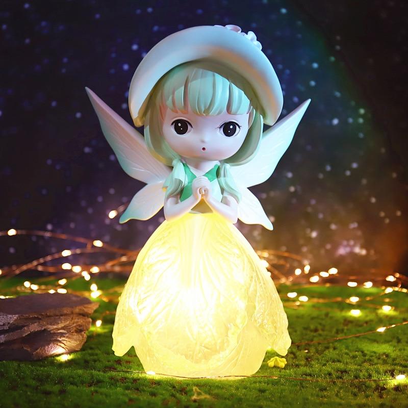 22CM Big Cute Fairy Lamp Ornament Night Light Dream Girl Heart Night Lamp Room Desktop Decoration Resin Decoration Cute Gift LED enlarge