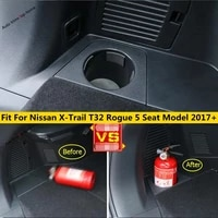 yimaautotrims fire extinguisher cup holder support plastic cover for nissan x trail x trail t32 rogue 5 seat model 2017 2020