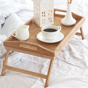 Bamboo Folding Table Lazy Breakfast Small Wooden Table In Bed Simple Dining Tatami Table