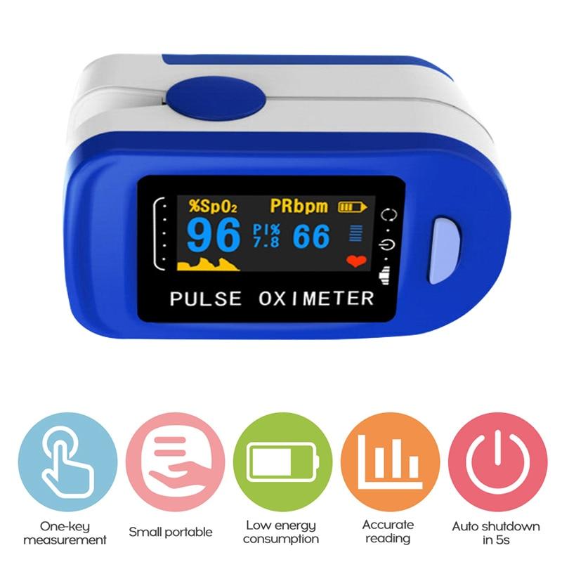 Fingertip Pulse Household Digital Oximeter Blood Oxygen Saturation Meter Finger SPO2 PR Monitor health Care