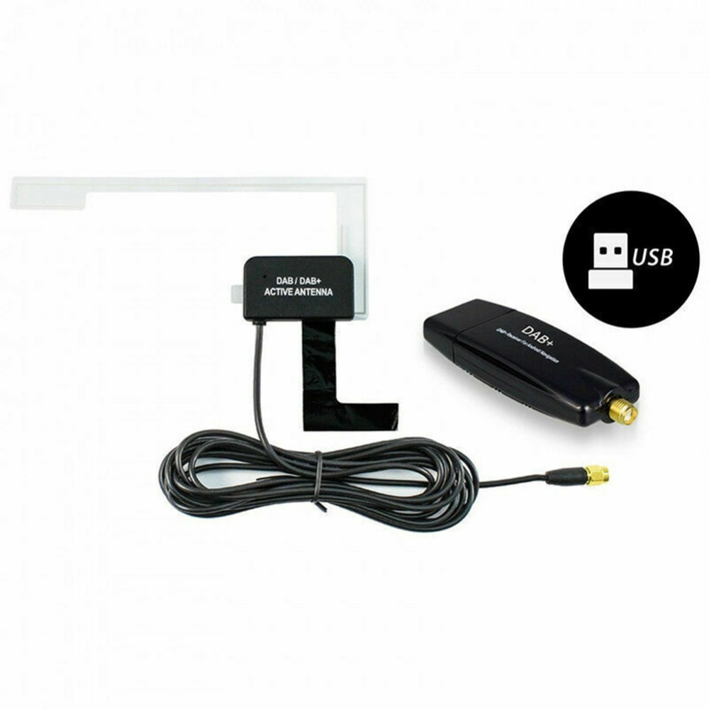 Antena Dab para coche con receptor adaptador Usb para Android Car Player aplicable para Europa Australia Dab adaptador Usb