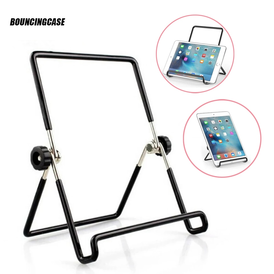 Universal Holder 360° Adjustable Foldable Metal Wire Stand Mount For iPad Tablet accessories