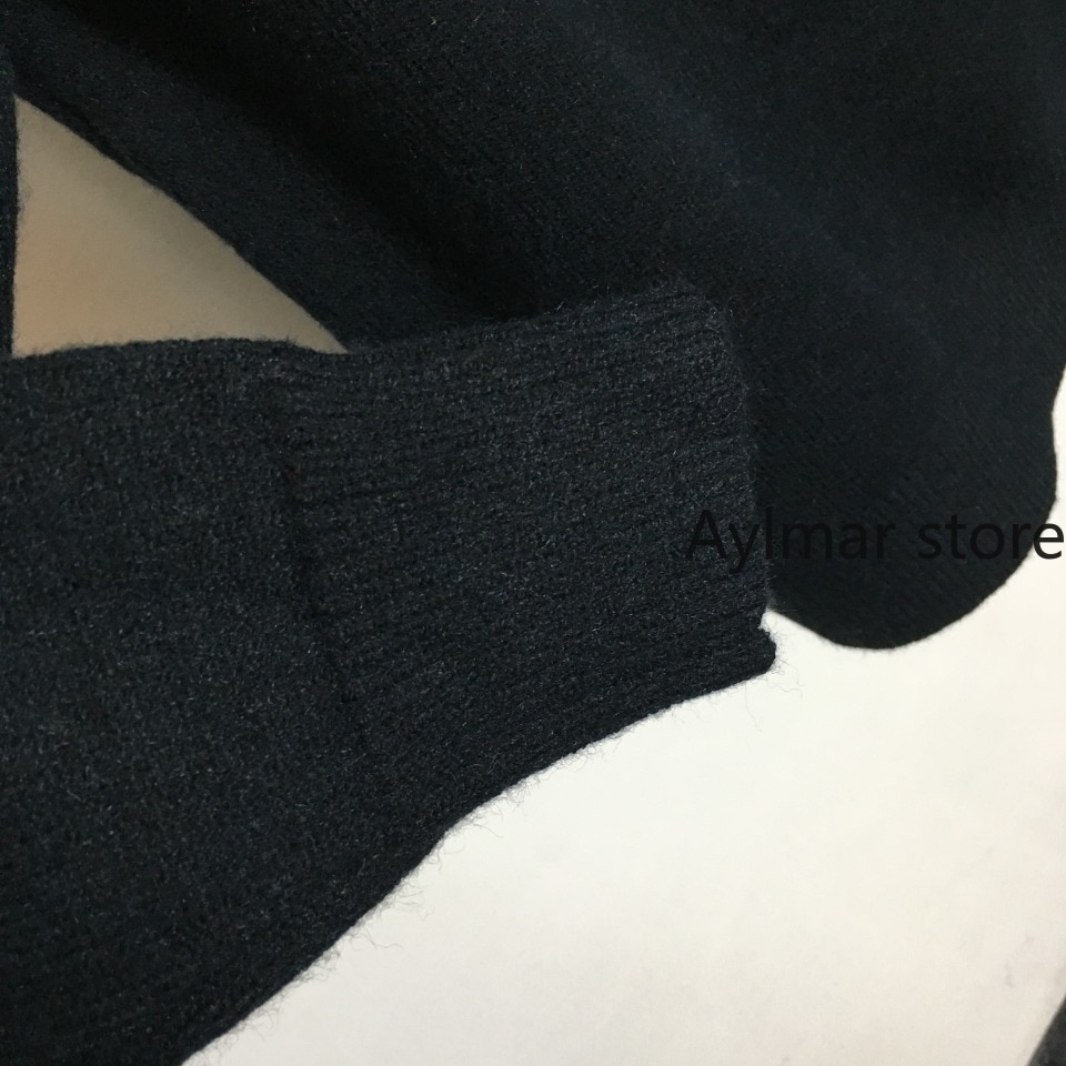 High quality 2021 autumn winter new women's badge embroidered letter zipper long sleeve sweater wool sweater woman sweaters enlarge