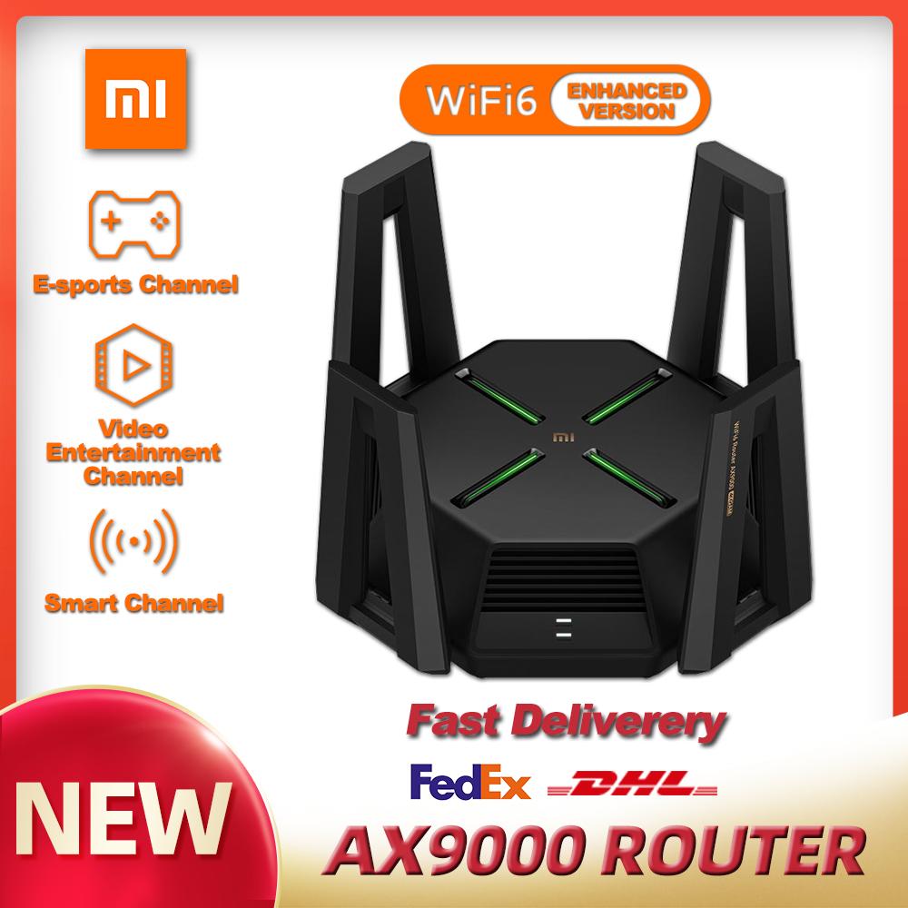 XIAOMI – routeur à trois canaux AX9000 wi-fi 6, processeur Quad-Core, 1 go de RAM, 4K QAM 12, antennes à Gain élevé, maille e-sport, Version améliorée